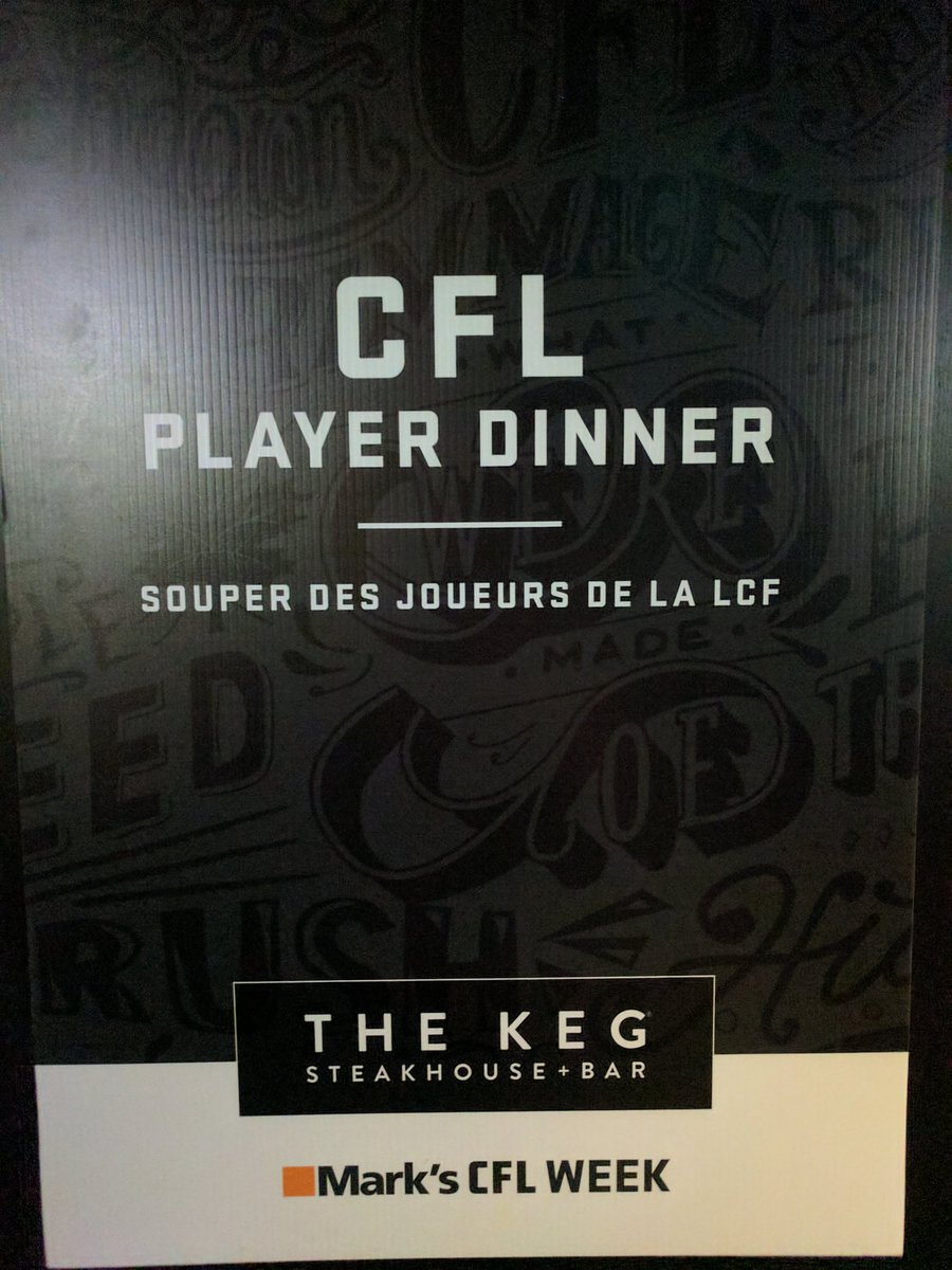 Twitter post: RT @CFL: Dining in style & celebrating #KegSize…Read more. Opens full post in an overlay