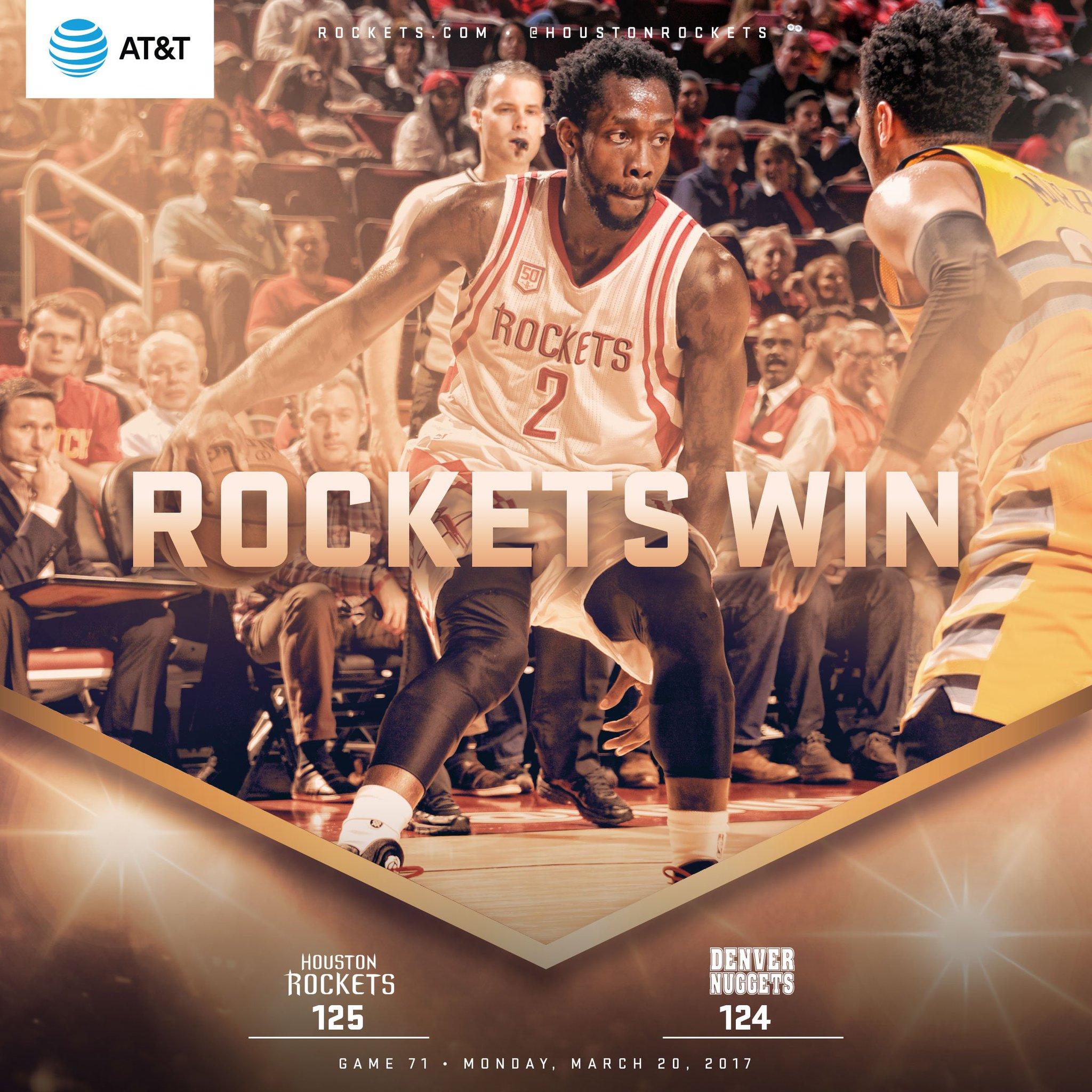 A true TEAM effort! #Rockets50 https://t.co/jIM2kjt83K
