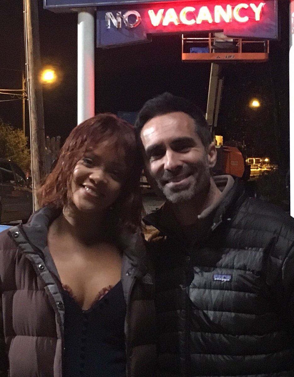 What a blast @rihanna loved working with you! @InsideBates @KerryEhrin...