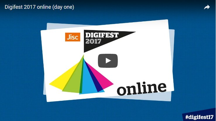 We've made both days of the #Digifest17 online programme available to...