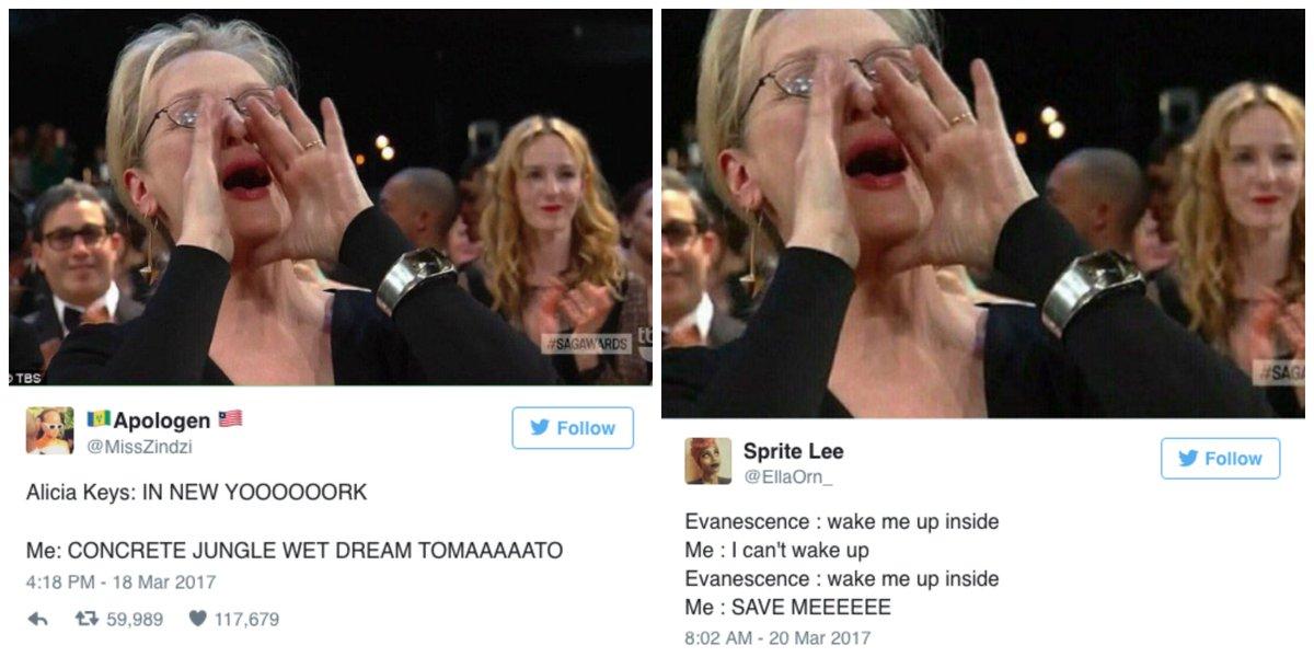 Meryl Streep singing is everyone's new favorite meme 😂😂😂😂😂 http://ellemag.co/6hoIFpL