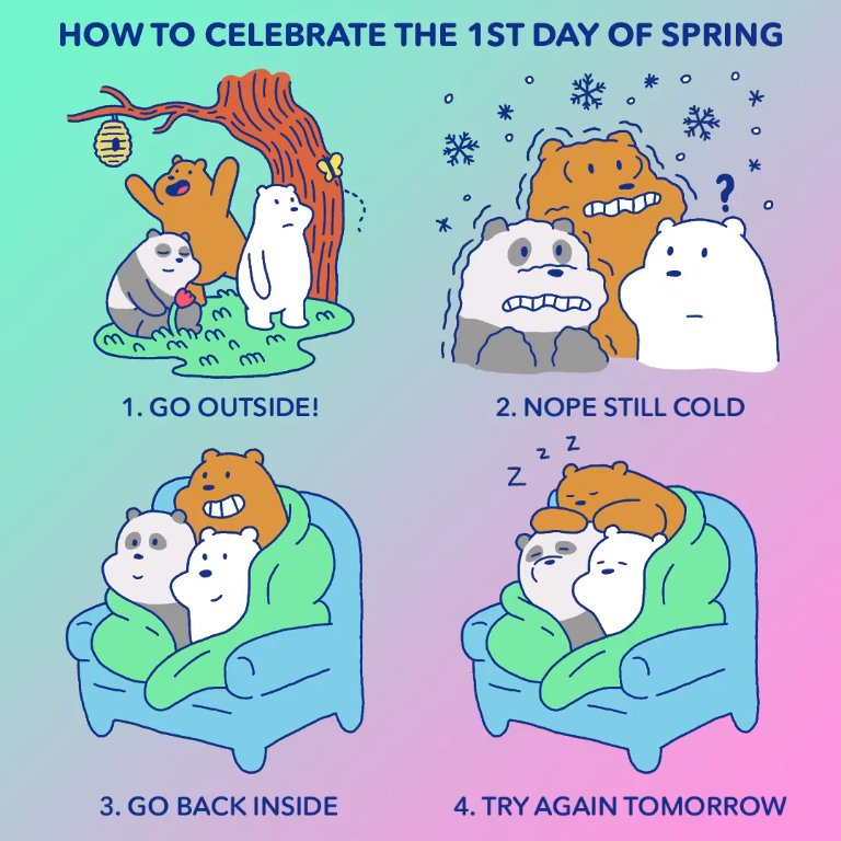 Nice try, Spring #firstdayofspring #webarebears ~mr. shadowman