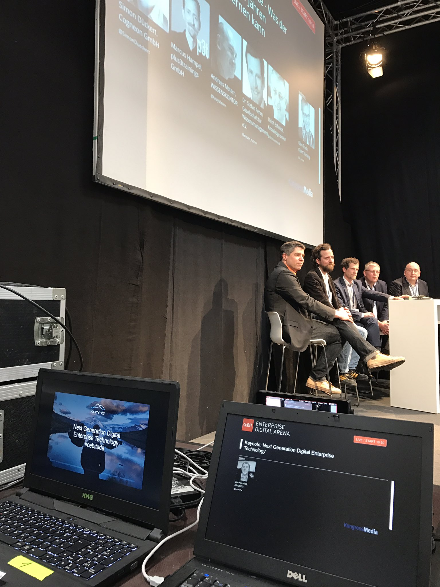 Watching @simondueckert, @andymatern, @wissen_nutzen, @ulrichAschmidt as I'm about to go up onstage at #cebiteda w/ @alecmcint. #CeBIT17 https://t.co/yj0QBqNHD1