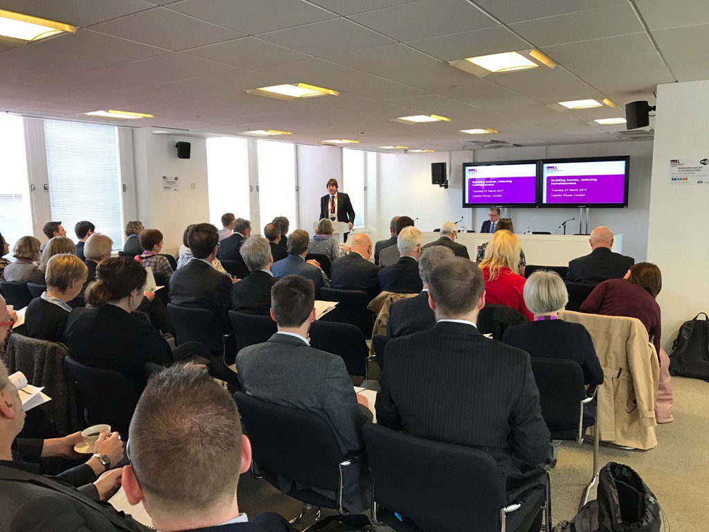"RT @MarkLloydLGA A full house as @garyporterlga opens @LGAcomms' ""Building Homes, Reducing Homelessness"" conference"