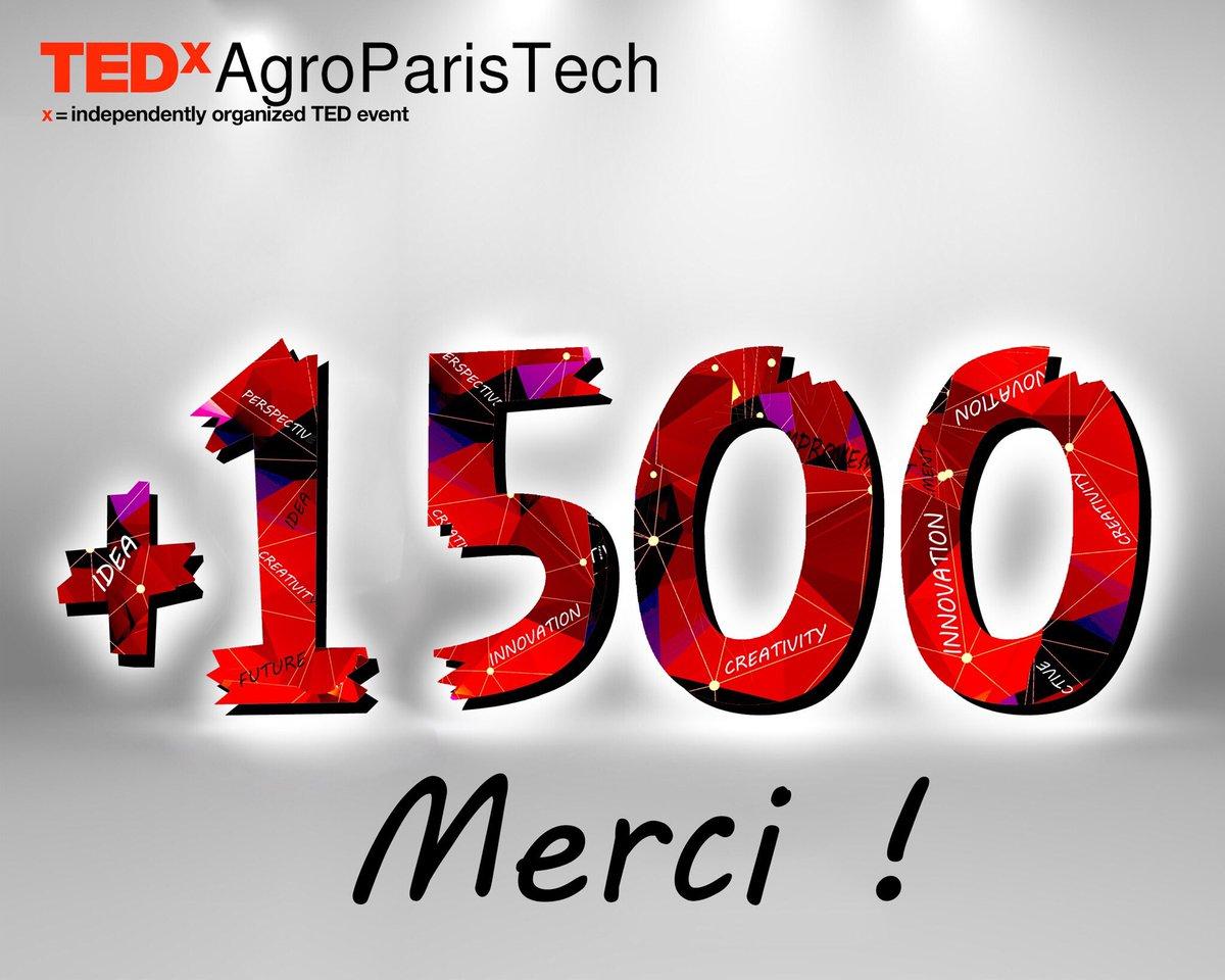 Toujours plus nombreux à nous suivre ! MERCI  Rdv demain pour l&#39;#aftermovie du #TEDxAgroParisTech <br>http://pic.twitter.com/DRndmY3DbM