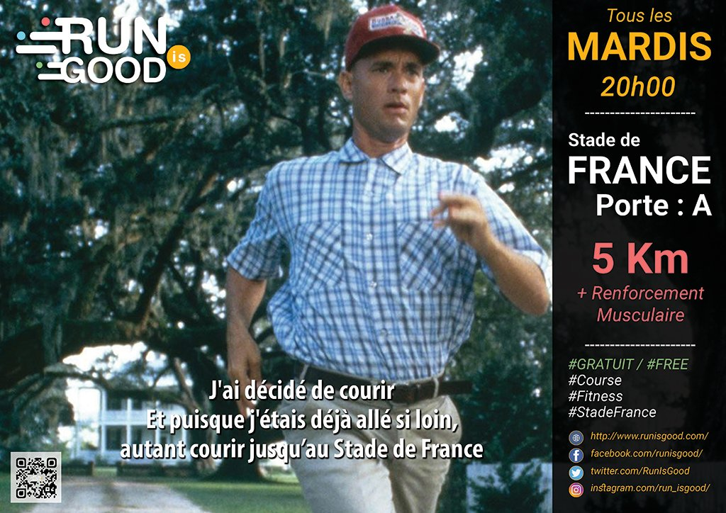 #Running #StadeFrance #runIsGood #bodyWeight #5km #forestGump Je suis arrivé au canal, je me suis dit: &quot;Autant faire demi-tour et continuer&quot;<br>http://pic.twitter.com/gl81MyP4nX