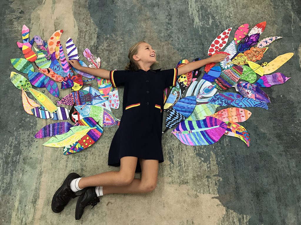 What a fun collaboration this was! #artsed #art @StHildasQld