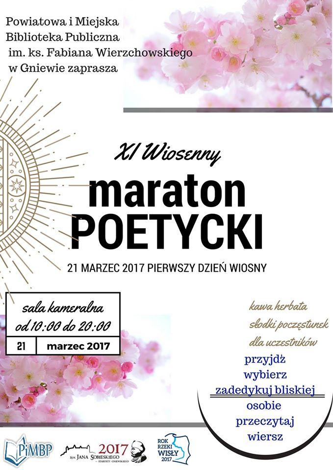 Miasto I Gmina Gniew On Twitter Już Dziś Maraton Poetycki