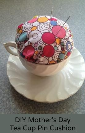 Mother's Day Craft for Kids: DIY Mother's Day Tea Cup Pin Cushion