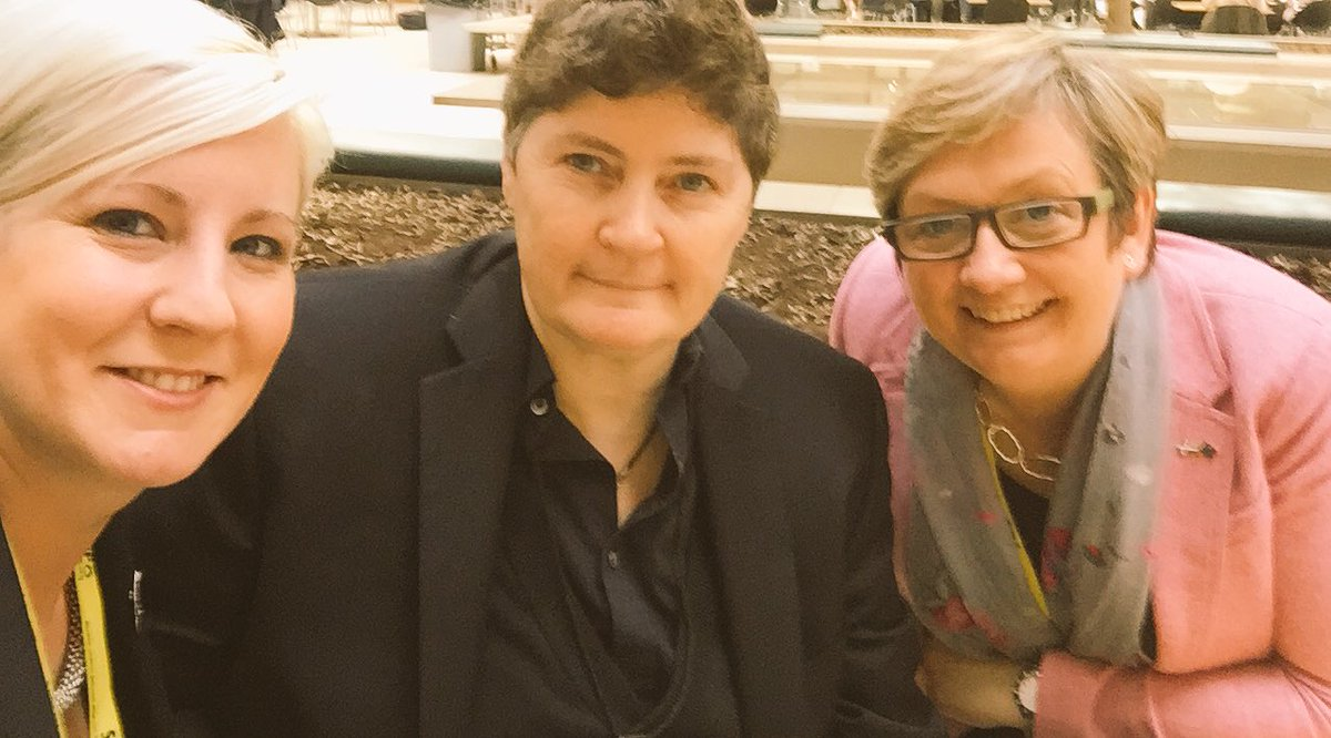 Good to catch up today with @joannaccherry & @HannahB4LiviMP - Loo...