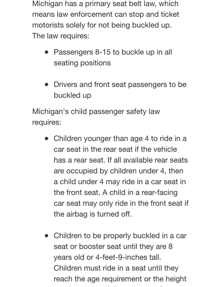 Auburn Hills Police On Twitter Michigans Seatbelt Law Requires Both The Driver And Front Seat Passenger To Be Buckled At All Times