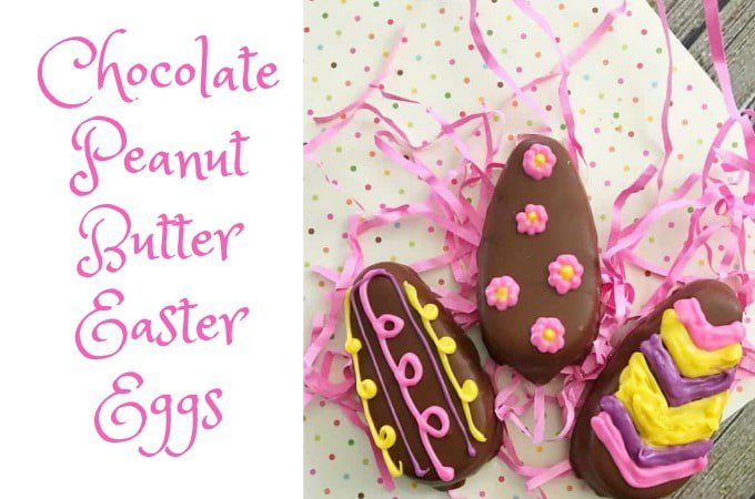 Chocolate Peanut Butter Easter Eggs are the perfect