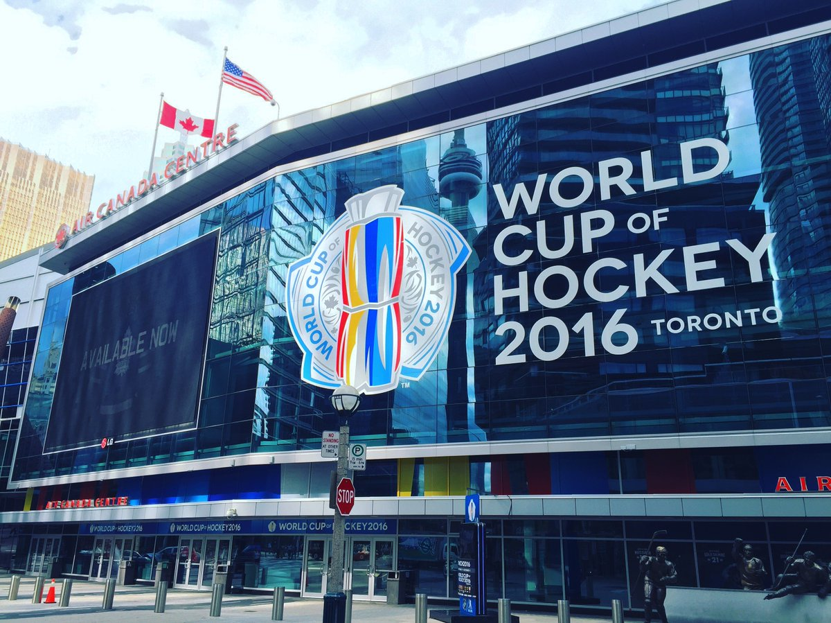 Giant graphics installed by ICON Visual at the Air Canada Centre for this past year's World Cup of Hockey! #icondigital #allthingsvisual