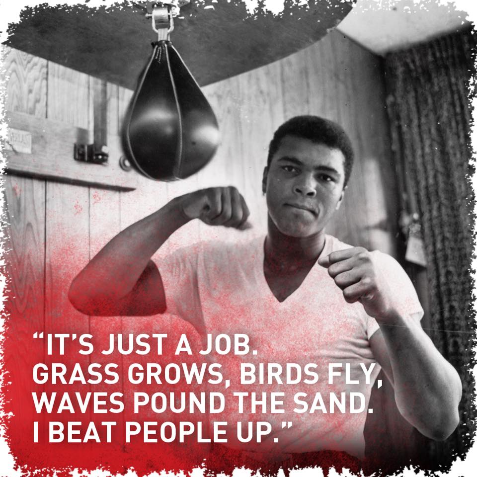 The GOAT was a poet in the sport of boxing @MuhammadAli   #WorldPoetry...