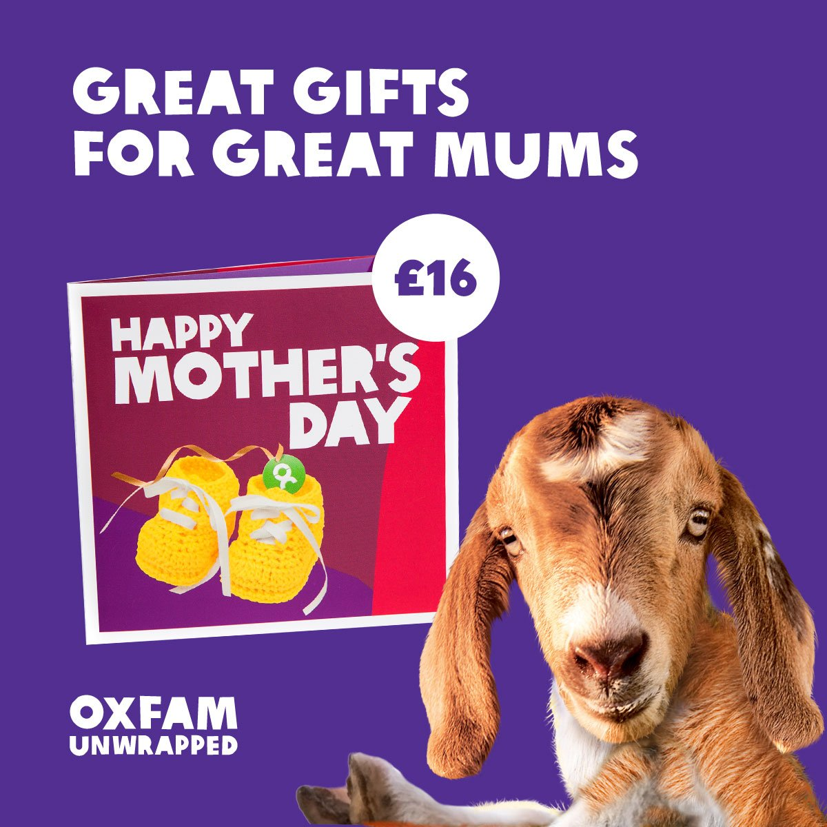 Oxfam Unwrapped charity gifts make perfect last minute gifts! Treat mum to a life changing gift this #MothersDay: ...