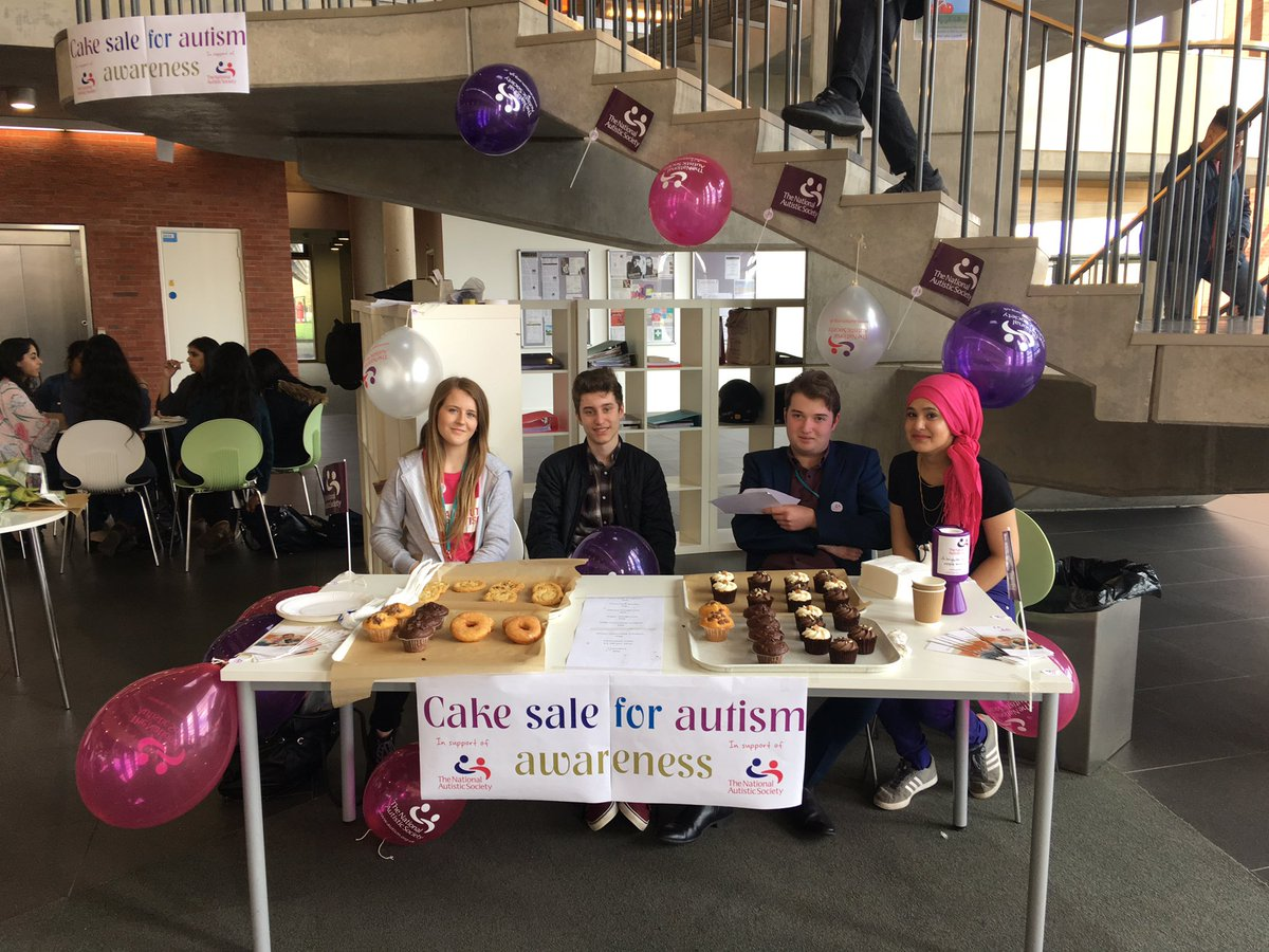Business studies students running a cake sale for Autism Awareness day today!