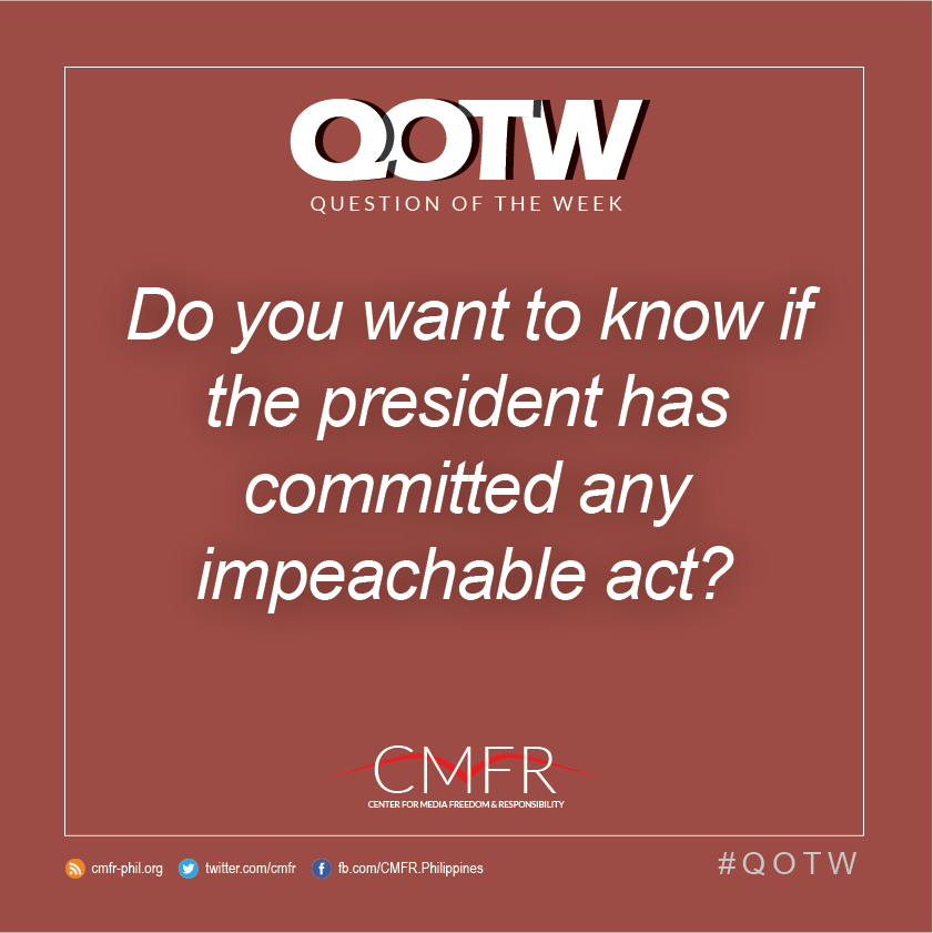 Thumbnail for QOTW: Do you want to know if the president has committed any impeachable act?