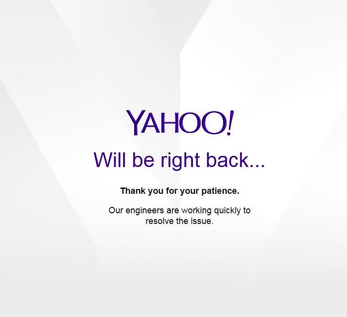 @YahooCare Is #YahooMail down? I&#39;ve tried several browsers + via mobile, but the same issue occurs... Thanks. <br>http://pic.twitter.com/peLCJIalO7