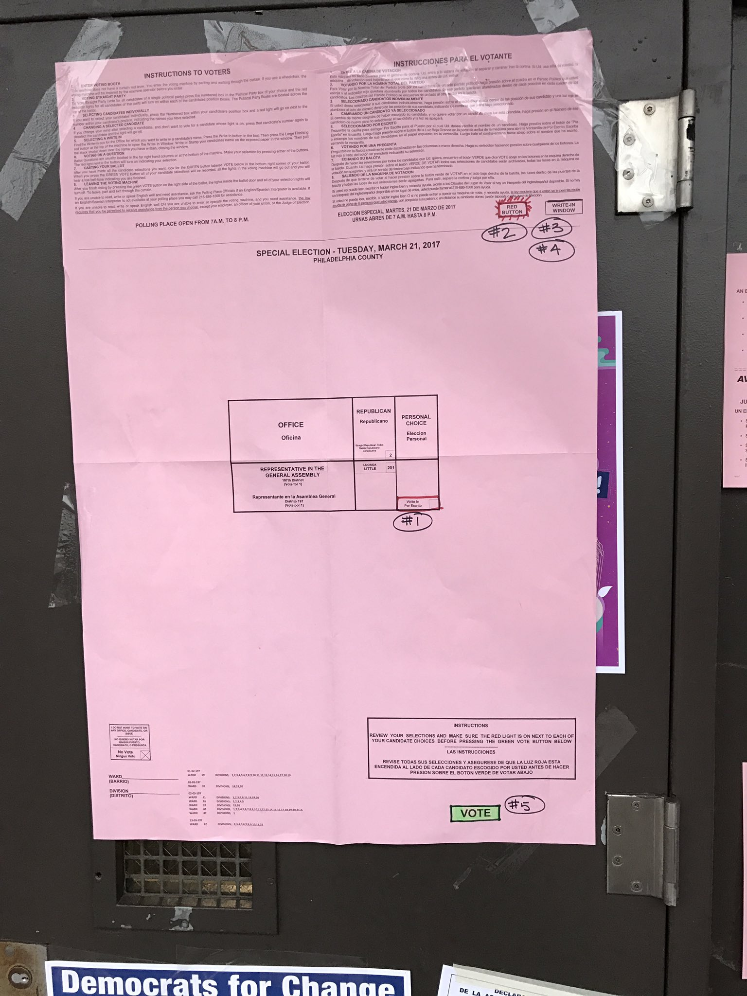 Taxpayer paid election sheets with specialized write-in instructions at Bethune #197th https://t.co/ETr97PVEJV