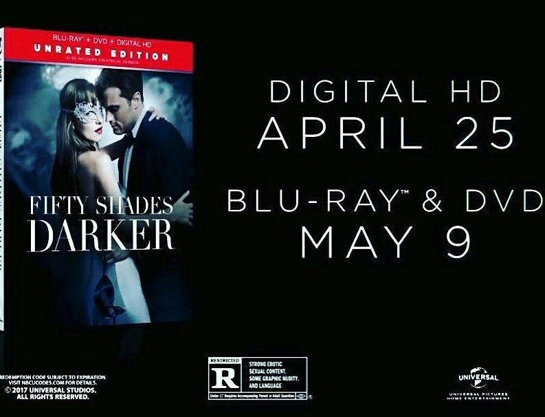 #CinquanteNuances de 50 jours    #FiftyShadesDarker  on Digital HD 4/25, Blu-ray 5/9 #OfficialFifty<br>http://pic.twitter.com/8CXWubEXLj