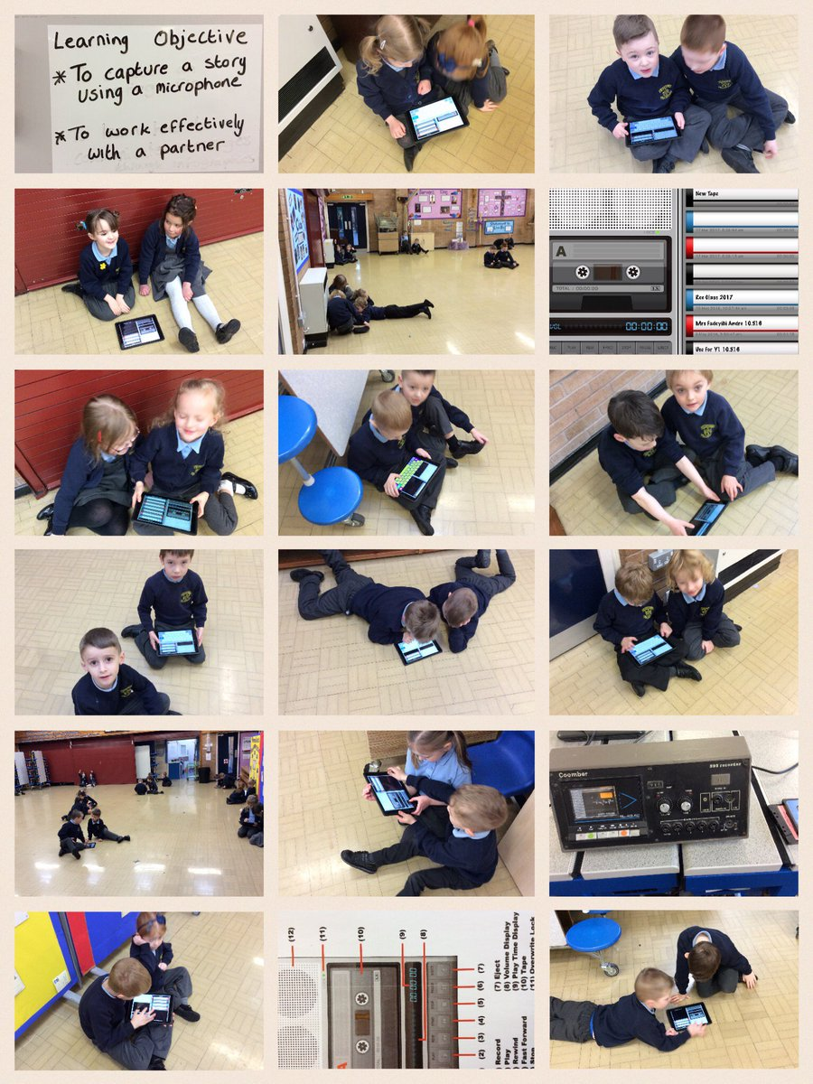Brilliant morning with Year 1 capturing sounds on the Tapes app. Well done Year 1.