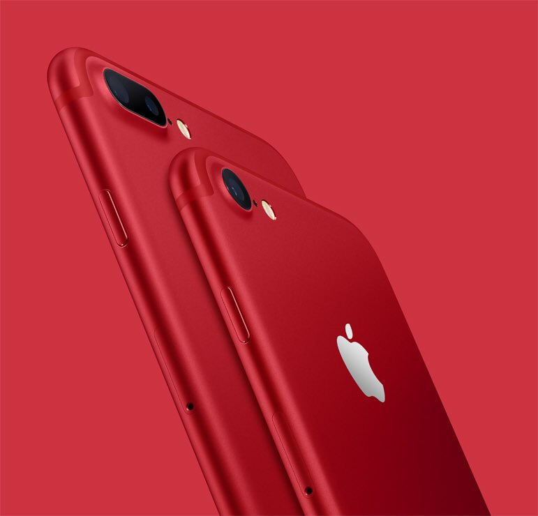 red on twitter apple red iphone 7 product red special