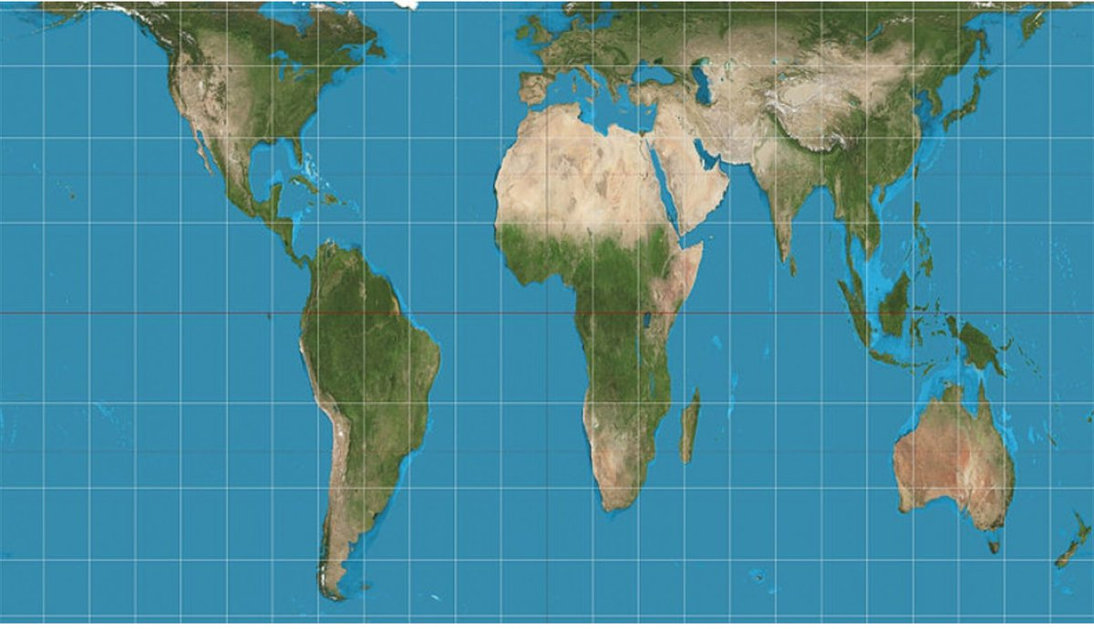 Wcs madagascar on twitter for all map lovers a fascinating look world map with the actual relative size of africa and madagascar gumiabroncs Gallery