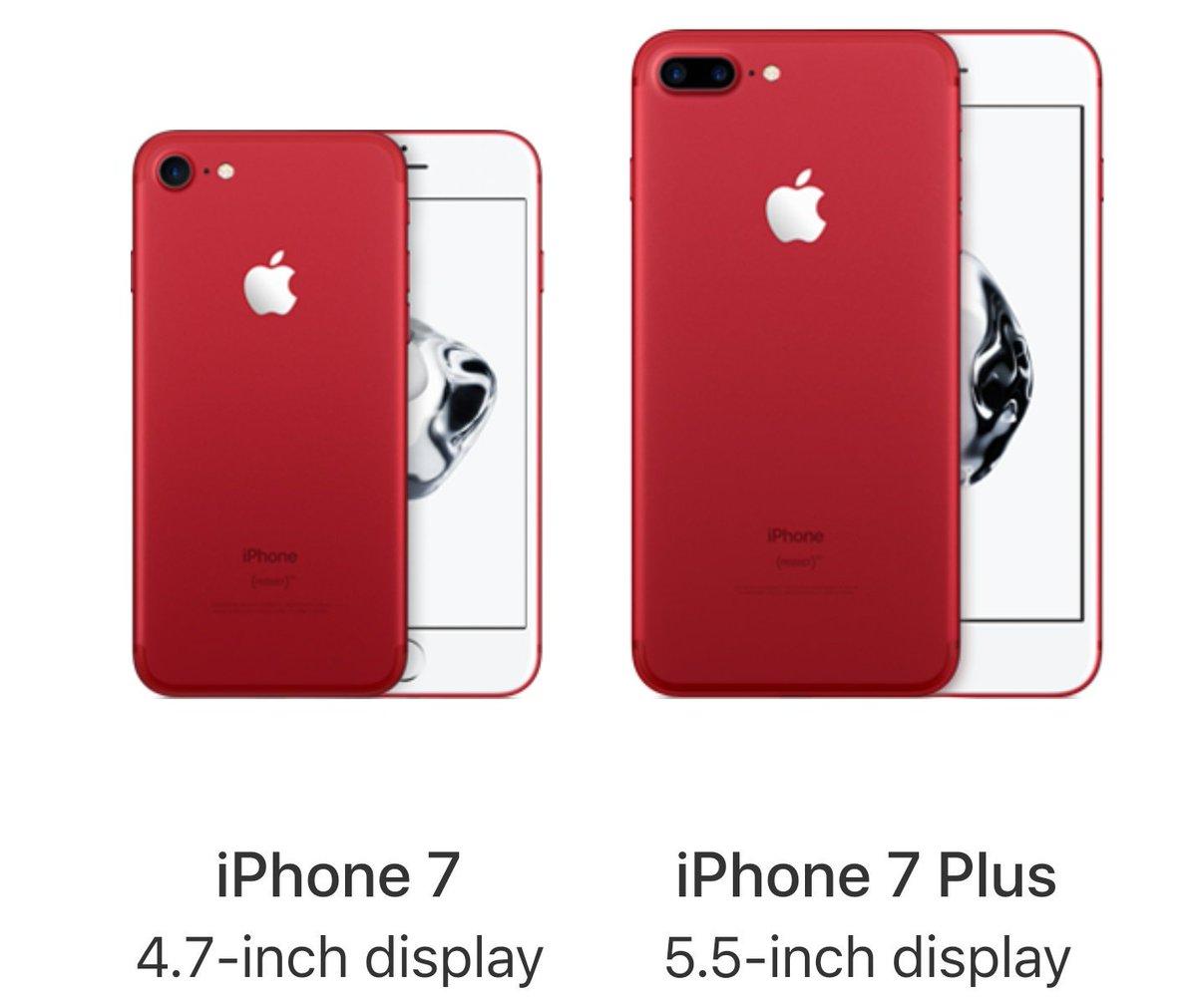 Nuovo iPhone 7 e iPhone 7 Plus: Rossa sorpresa di Apple