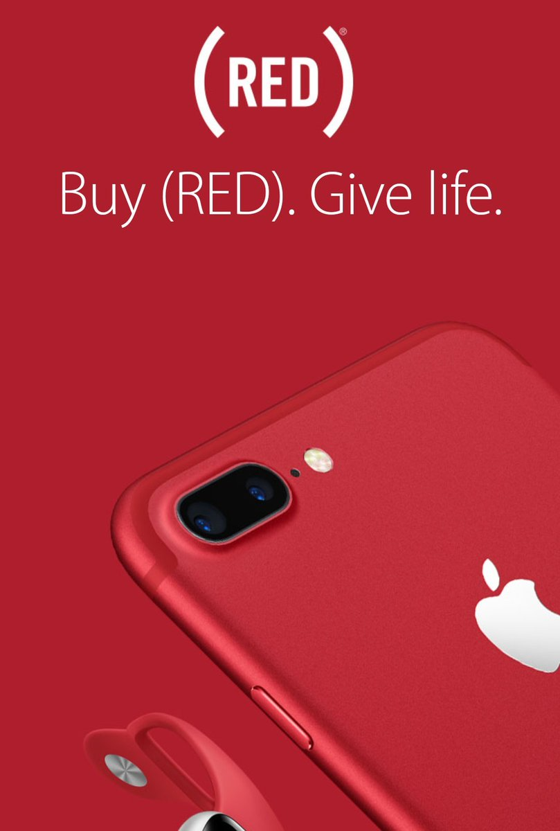 Apple launches RED iPhone 7 and 7 Plus. Contributing to the global fund to fight AIDS. https://t.co/4E9Imic0Qf
