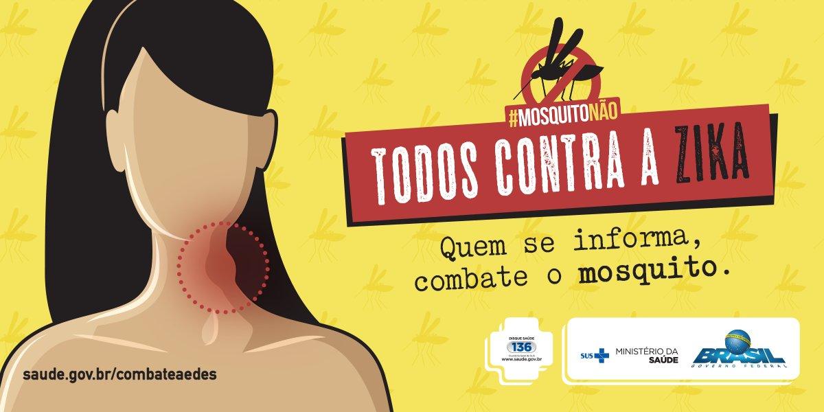 Você sabe identificar os sintomas da Zika? Acesse https://t.co/Yl1wRMpyrI  e descubra. #MosquitoNão