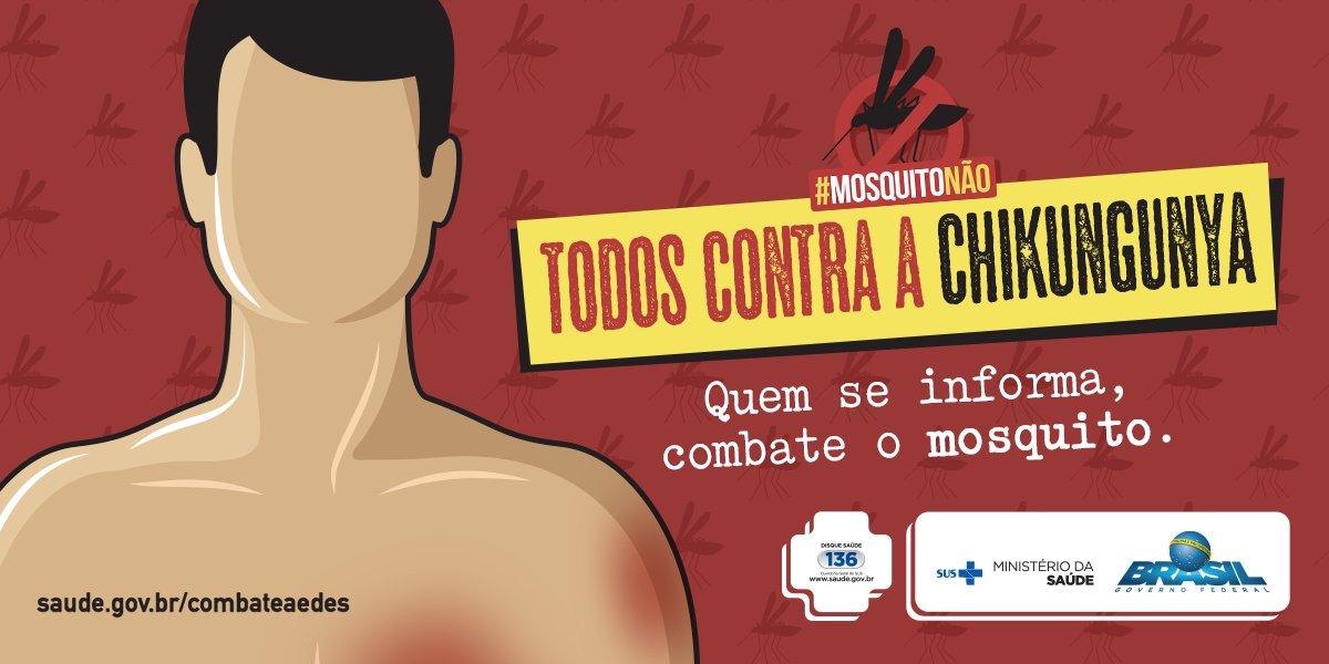 Você sabe identificar os sintomas da Chikungunya? Acesse https://t.co/Yl1wRMpyrI  e descubra. #MosquitoNão