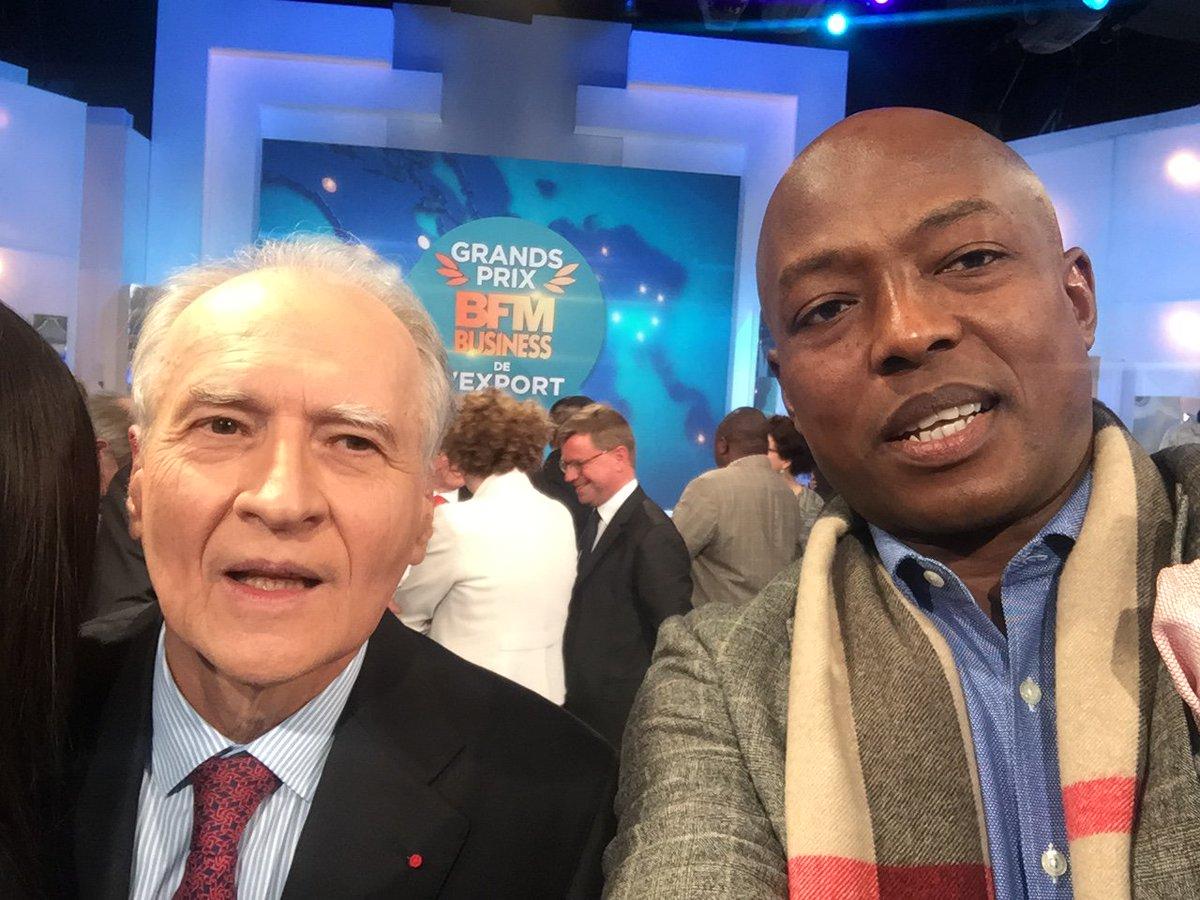 #Multiven CEO Peter Alfred Adekeye congratulates #Vinci CEO Xavier Huillard on winning the #BFMBusiness the Great Award Champion of export <br>http://pic.twitter.com/P8U5ugQDMZ