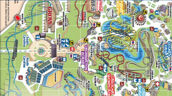 Carowinds Park Map Carowinds on Twitter: