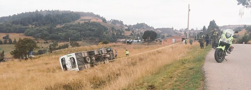 Un muerto y 17 heridos dejó accidente de tránsito en la vía Yopal - Sogamoso