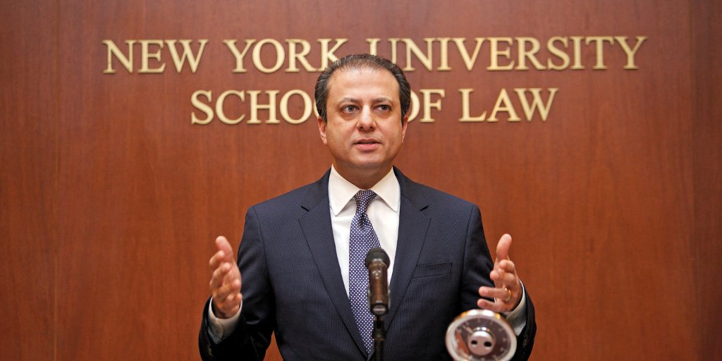 . @PreetBharara to join @nyulaw as a distinguished scholar in residence: https://t.co/31zdVRo84G https://t.co/pp3HlFGRuI