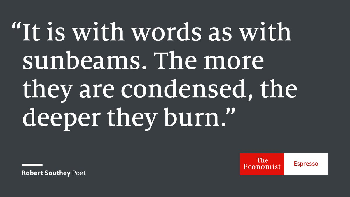 Our quote of the day is from English poet Robert Southey #WorldPoetryD...