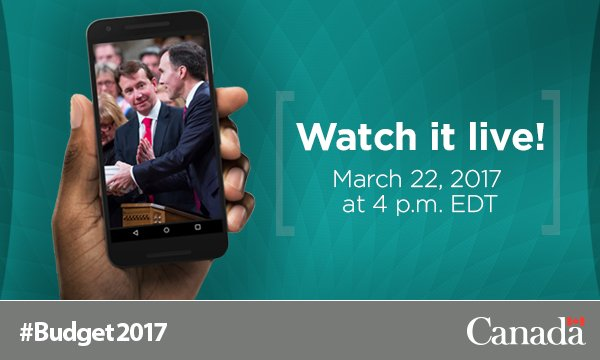 #Budget2017 to be tabled this Wednesday! Check in with us @ 4pm https:...