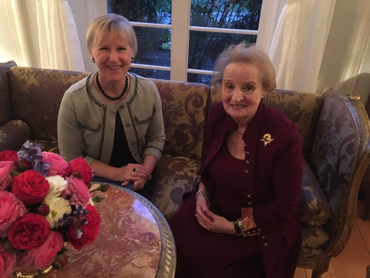 True privilege to meet my friend @madeleine, appreciate her support & advice. About the world we agreed to be 'optimists who worry a lot'