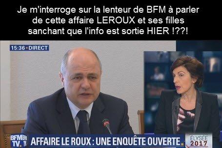Affaire Leroux La lenteur de #BFMTV est suspect ! #BFMTV #GGRMC #itele @CNEWS #cnews #TF1 @TF1 @csaudiovisuel @19HRuthElkrief #20h2017<br>http://pic.twitter.com/seKmeUndqA