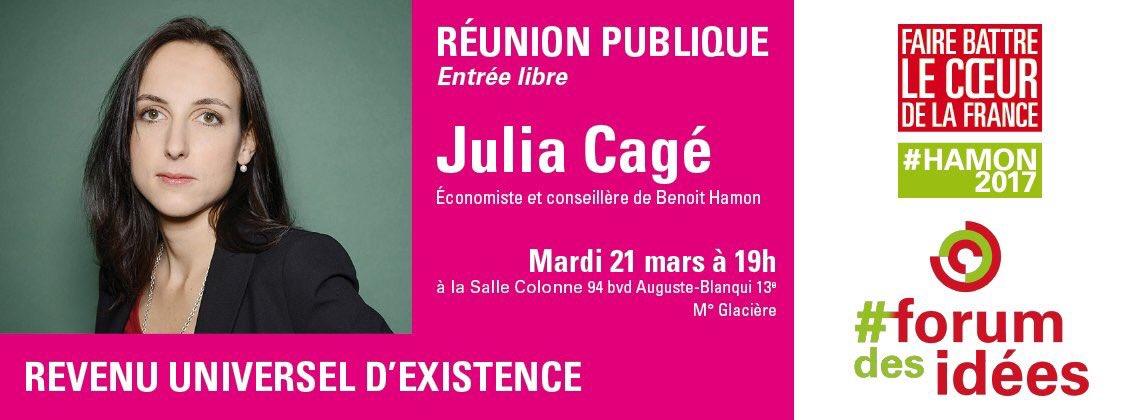 Agenda de la semaine  Pour tout savoir sur le #RUE et poser vos questions à @CageJulia c&#39;est ce soir à #Paris13 #Hamon2017<br>http://pic.twitter.com/6V96xm47uB