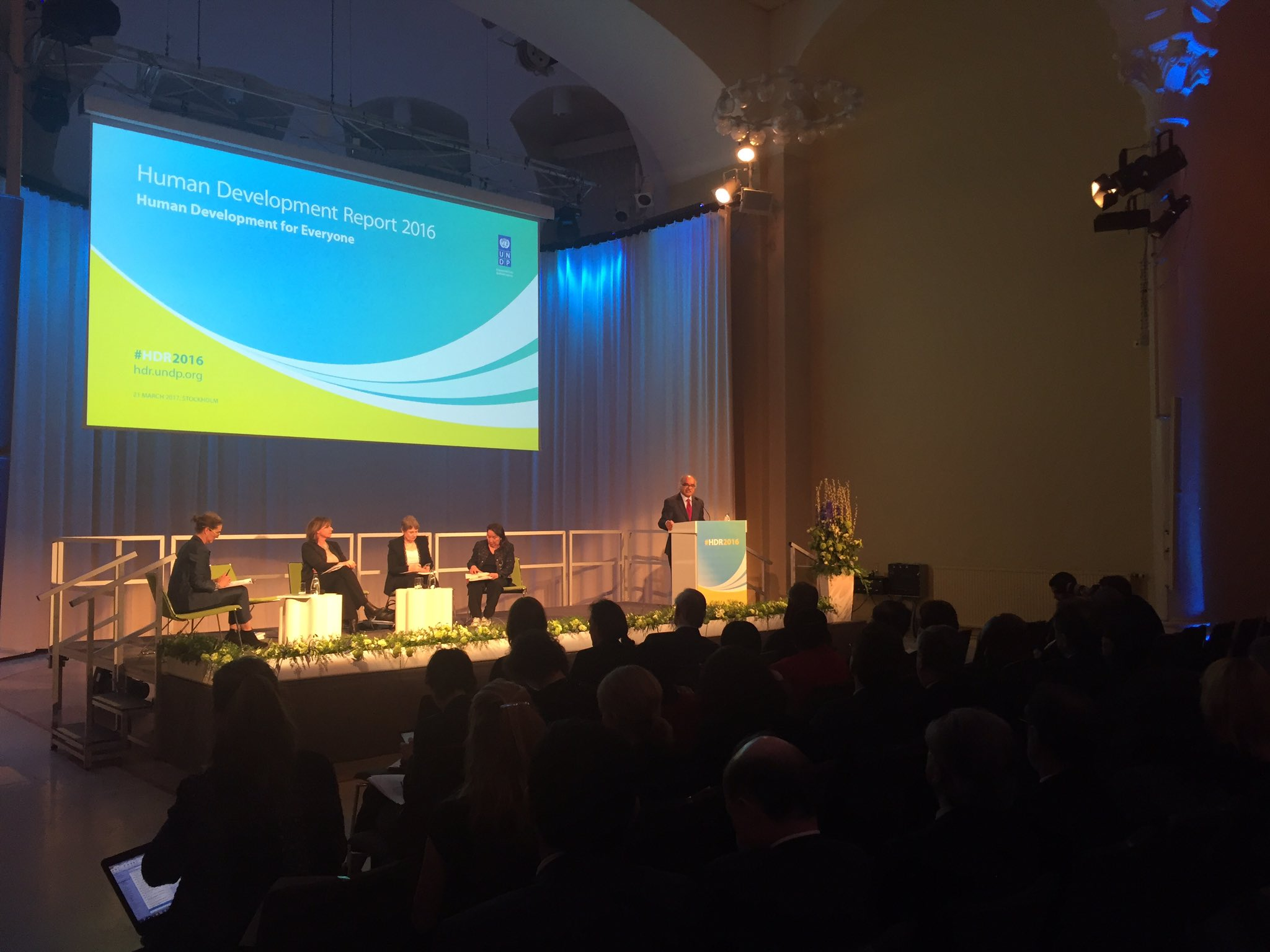 HDRO Director @SelimJahanUNDP  Every life counts, and every life is equly valuable. #HDR2016 Global Launch in Stockholm, Sweden https://t.co/E6XDJt4TZ2