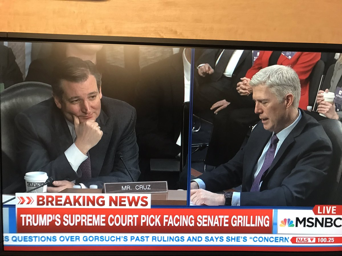 Find someone that looks at you the way Ted Cruz looks at Neil Gorsuch https://t.co/pr9e16sarH