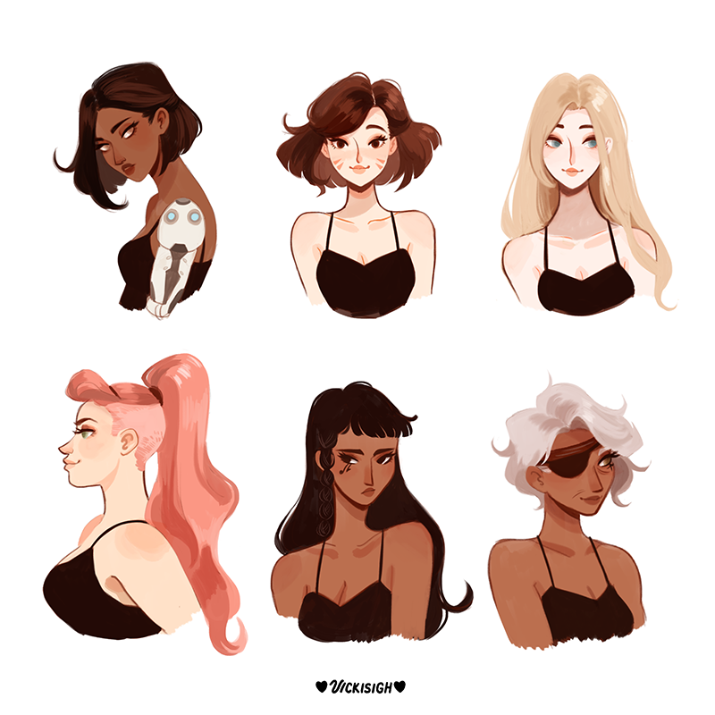 what if the overwatch ladies changed their hair?.....😳✂️ https://t.co/...