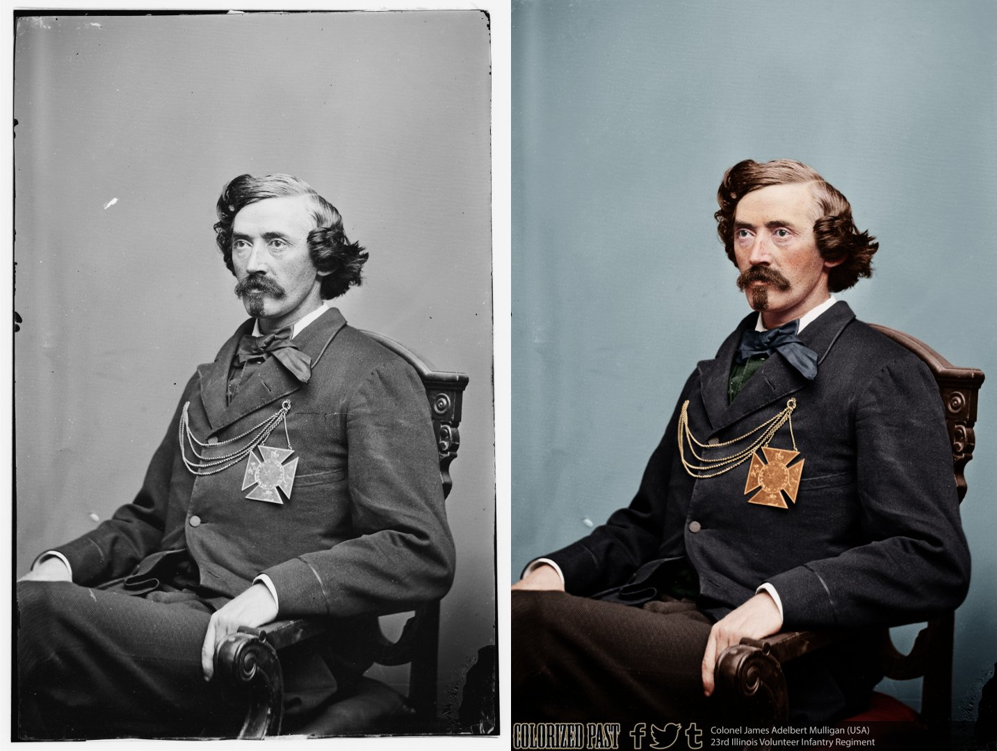 From @ColorizedPast: James Mulligan attempted to improve conditions at Camp Douglas POW camp in 1862 @civilwartrust https://t.co/KNH9sbHpsK