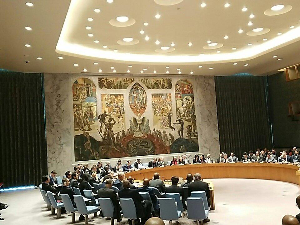 S.E  She Okitundu présente la situation de la #RDC et conditions pour renouveler le mandat #MONUSCO #UNSC @SheLeonard @maleineco @annytenga<br>http://pic.twitter.com/juCR7CPSmn