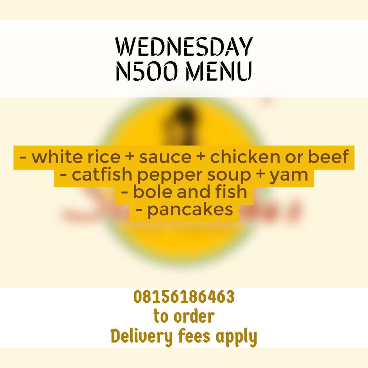 Wednesday Menu  Don&#39;t be left out .  Call 08156186463 to place your order .  Order line closes 9am Wednesday morning. #abujaonly <br>http://pic.twitter.com/B8LyaN3t9E