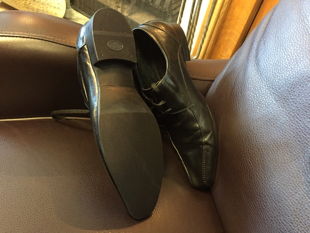Fin Min Kevin Doherty re-soled his old shoes for budget day. Donated $...