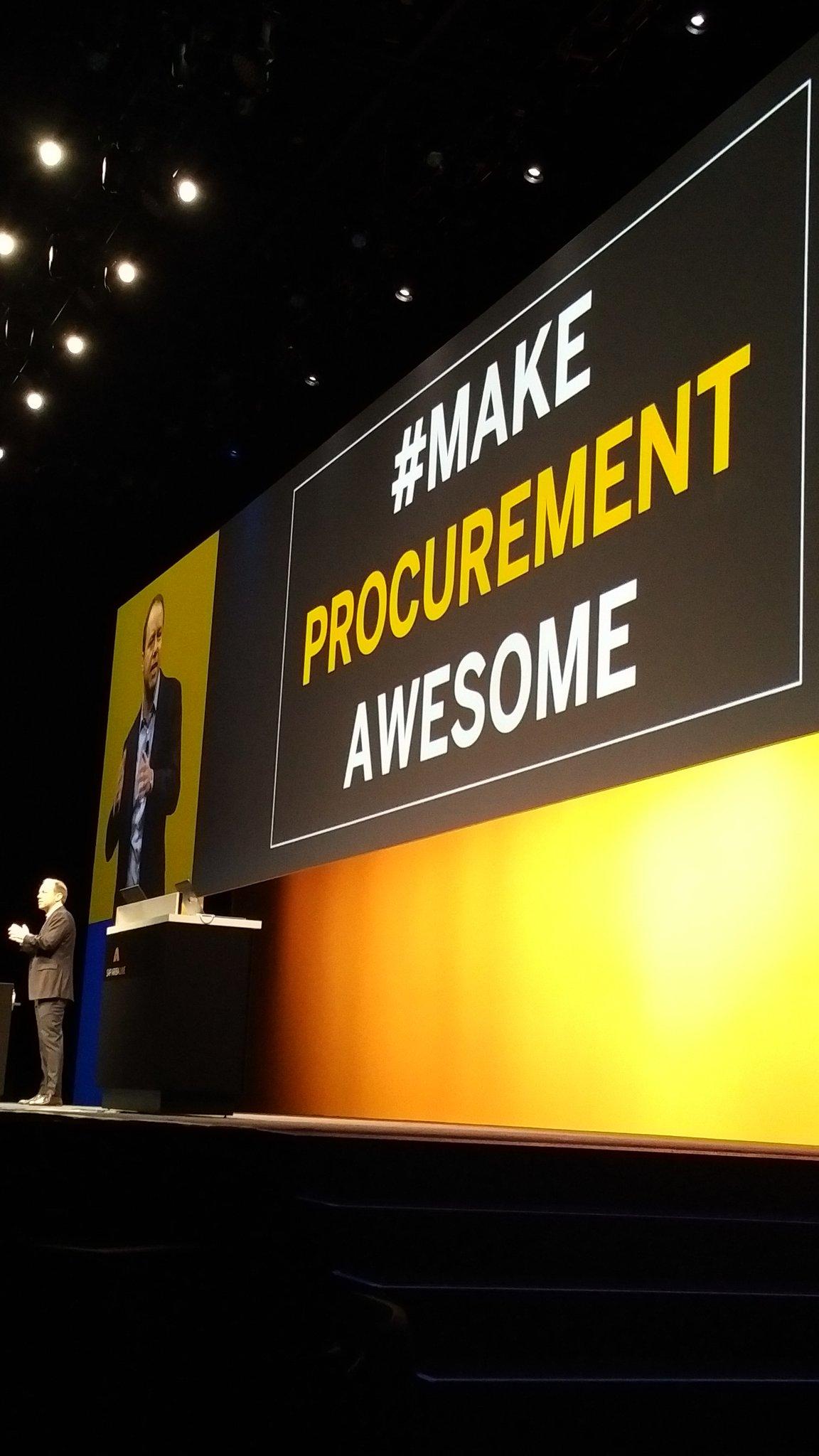 And @aatzberger unveils @SAPAriba tagline  #MakeProcurementAwesome #SAPARIBALIVE https://t.co/GpMaiB6PO8