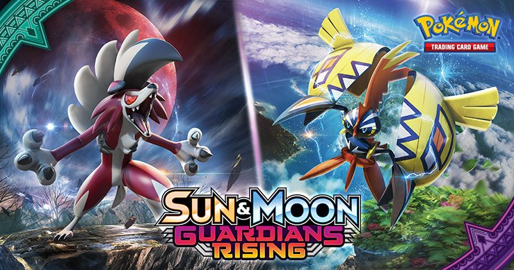 Rise to battle with #PokemonTCG: Sun & Moon—Guardians Rising, comi...