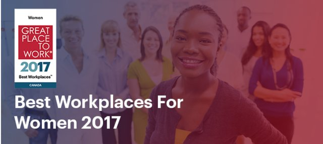 Proud to work for one of the 2017 Best Workplaces for Women, ranking #12! #iwd2017
